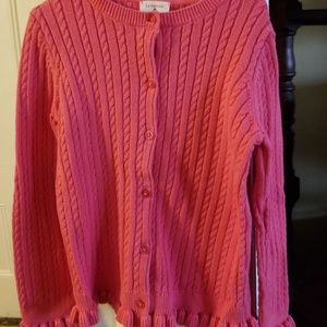 Girls Size 5/6 M Lands End Pink Sweater